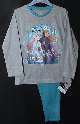 "FROZEN 2 Pyjamas Girl's Official Disney Frozen 2 ""Destiny Awaits"" PJs 4-10 years"
