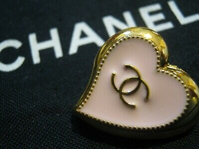 CHANEL  1 AUTHENTIC LIGHT PINK GOLD Heart shape BUTTON