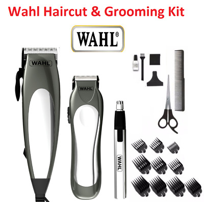 WAHL 25 Piece Mens Haircut Clipper Trimmer Beard Nose Ear Hair Grooming Shaver
