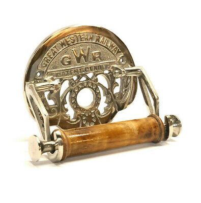 Toilet Roll Holder Novelty Vintage Retro GREAT WESTERN RAILWAY (GWR) Chrome