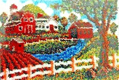 "LATCH HOOK RUG KIT ""HERITAGE HOMESTEAD""  Free UK postage SCENIC VIEW"