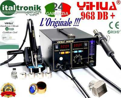 Soldering Station Yihua 968DB + Soldering Iron Hood Air Warm and Gifts