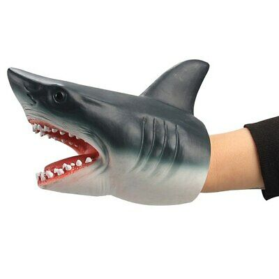 Shark Hand Puppet Soft Kids Toy Gift Great Cake Decoration Topper Jaws Children