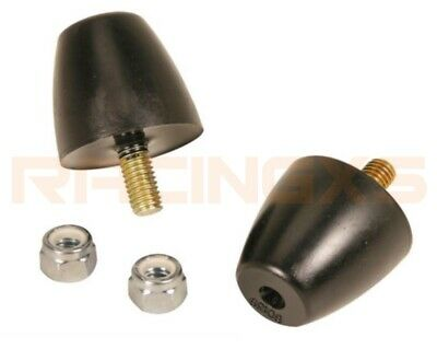 Pair uprated poly bump stop stops poly suspension bumpstop LARGE CONE BLACK
