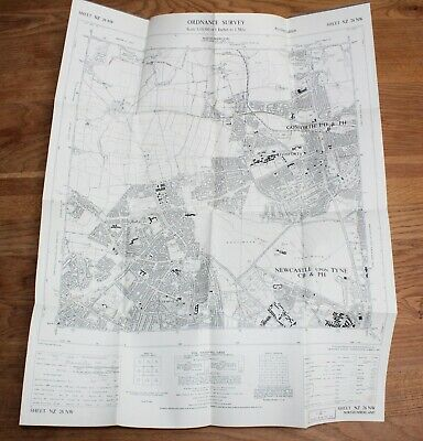 Ordnance Survey Map NZ 26 NW Newcastle 6 in to 1 mile Gosforth Northumberland