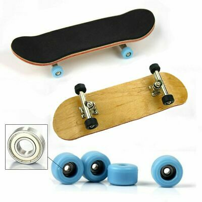 Complete Wooden Fingerboard Finger Skate Board Grit Box Foam Tape Maple Gift