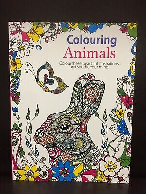NEW - ADULT COLOURING BOOK - ANIMALS - 70 SHEETS TO COLOURl