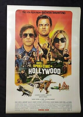Original Once Upon A Time in Hollywood 2019 DS Double Sided Movie Poster 27X40