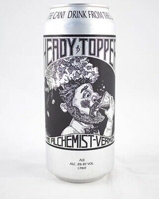 4 Pack Heady Topper Beer Cans Empty Fresh