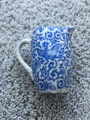 antique Japanese miniature pitcher creamer porcelain blue white 1900 Phoenix