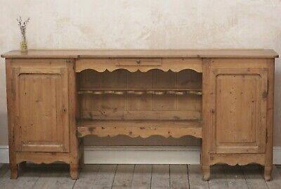 Antique Vintage Rustic French Pine Kitchen Sideboard/ Sidetable/Buffet