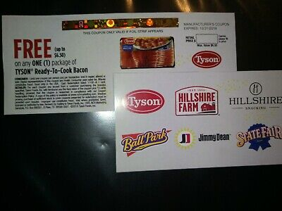 Tyson Ready To Cook Bacon Coupon up to $6.50 exp 10/31/19