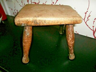 Victorian Small Solid Oak  Milking Stool ~ Country Furniture