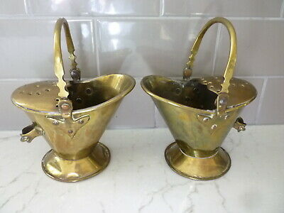 Pair Of Brass Spoon Warmers 19Thc
