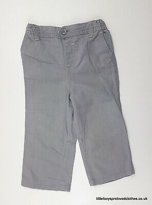 12-18 month Baby boutique linen grey boys trousers pants loose comfy