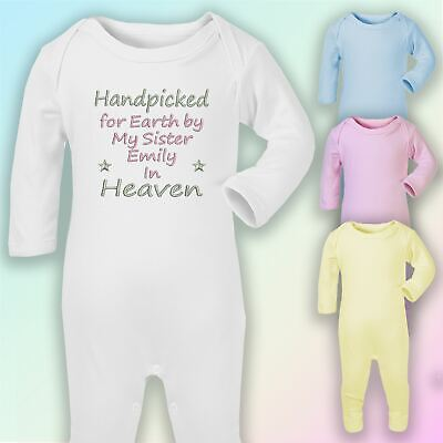 Handpicked for Earth Nanny Embroidered Baby Dimple Taggy Gift Heaven Nan Nanna