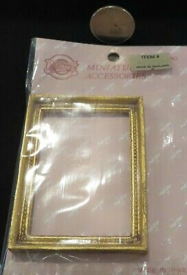 Frame 2 Frames Gold Gilded Art Painting Drawing 1:12 Dollhouse Miniature #A1065
