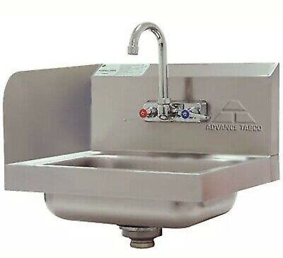 "Advance Tabco 14"" Wall Mounted Hand Sink w/ Splash Mounted Faucet Model 7-PS-66L"