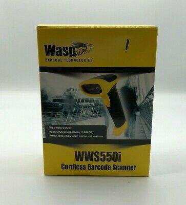Used- Tested and Working- Wasp WWS550i Freedom Cordless Barcode Scanner