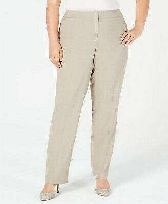 Nine West Women's Pull-on Stretch Straight-Leg Pants Creek 16W Plus Size