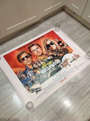 ONCE UPON A TIME IN HOLLYWOOD (TARANTINO)Original UK Cinema Quad Poster.