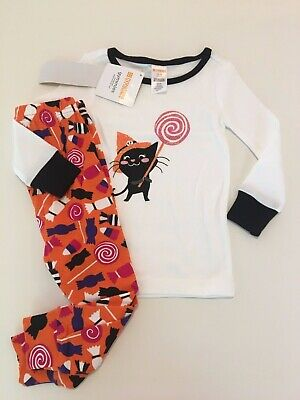 Girls Gymboree Nwt Halloween Outfit Pumpkin Cat Pick Me Shirt Leggings 18-24 M