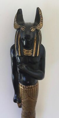 Egyptian Anubis Black Gold Design Toscano Pen Collectibles Ancient History