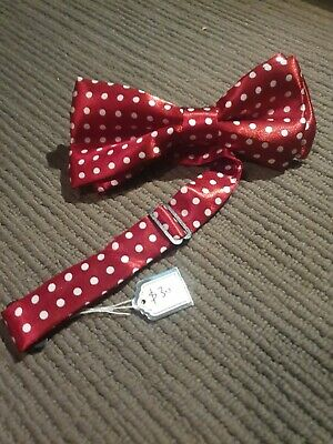 Vintage Bow Tie $30. Maroon/burgendy red with white dots. Pre-Owned. Free post