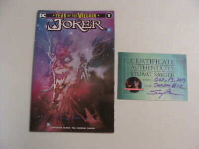 Joker Year of the Villain 1 Signed Stuart Sayger Variant Cover 1C 1 of 500