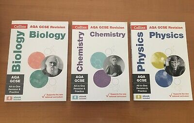 AQA Collins GCSE Science Revision books (9-1) (biology, chemistry and physics)