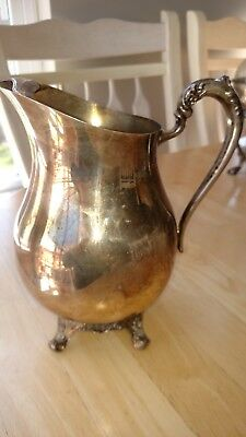 Vintage F.B. Rogers Silver Co. Water Pitcher 1883 Crown Trademark