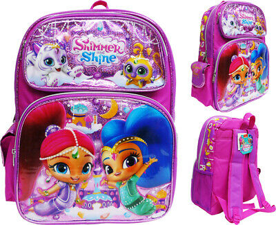 """Shimmer /& Shine 16/"""" Backpack School Book Bag Journal w Pen NEW Pencil Pouch"""
