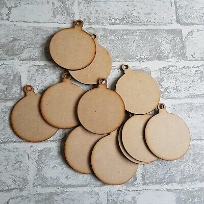 Christmas Bauble MDF Decorate Your Own Xmas Decoration Wood