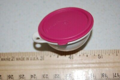 Tupperware Thatsa Bowl Keychain with Pink Lid - Rare and HTF - Ex. Condition