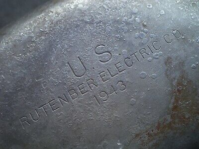 WW2 US Army M1910 Steel Canteen Rutenber Electric Co 1943 SCARCE One