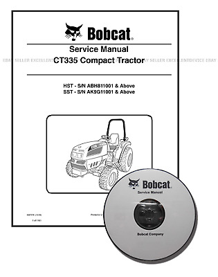 Bobcat CT335 Compact Tractor Workshop Service Manual CD + Download 6987078