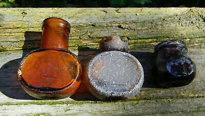 Antq lot of 3 Bovril meat juice extract bottles found near Thames River
