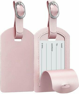 2 Pack Suitcase Luggage Tags Name Address ID Labels Privacy Cover Travel Bag