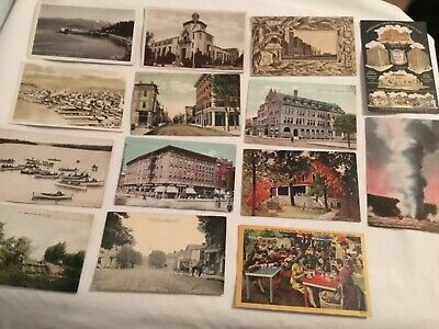 Lot Of 400 Old And Antique Postcards, All Standard Size Usa