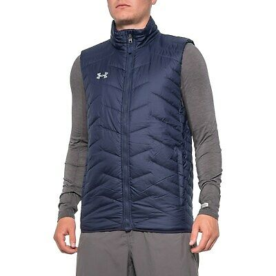 NWT $124.99 Under Armour Mens Team Reactor Vest Insulated Navy ColdGear