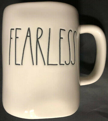 "Rae Dunn Artisan Collection ""FEARLESS"" Mug - New"