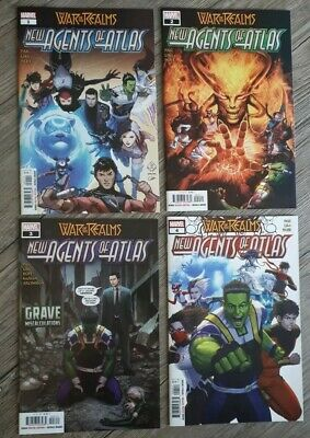 NEW AGENTS OF ATLAS 1, 2, 3, 4 • WAR OF THE REALMS.  NM+  SET OF 4 Marvel Comics