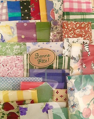 ❤Laura Ashley❤ 60 Vintage Fabric Scraps Quilting Pack Patchwork Crafts