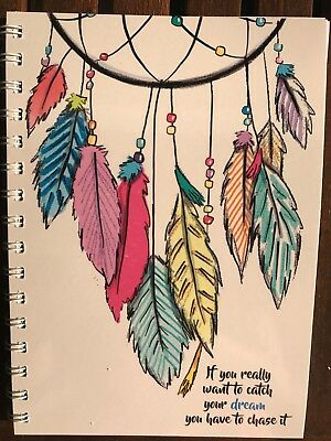 2020 diary colourful dreamcatcher quote A5 One week to page (see pics)