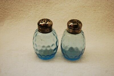 Scarce Pair Victorian Coindot Barrel Salt Shakers 1880'S