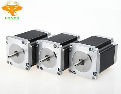 3PCS Nema 23 hybrid Stepper Motor 76MM,270oz(1.9n.m),3A 4-lead,shaft 8MM single