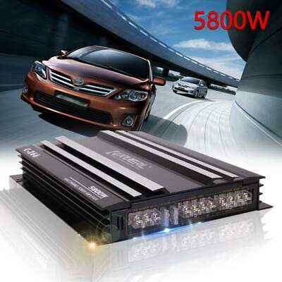 5800W Car Stereo Audio Power Amplifier 4-Channel 4Ohm Super Bass Subwoofer Amp