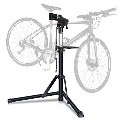 unisky Foldable Mountain Bike Repair Rack Stand Adjustable Height Bicycle Maintenance Rack Workstand Tool Tray