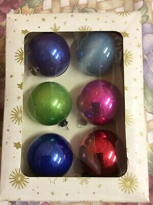 Vintage 1960's Christmas Glass Baubles decorations