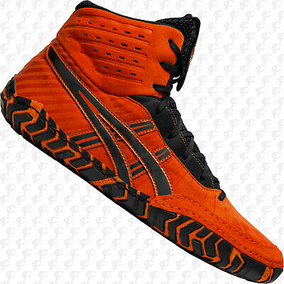 NEW Asics Aggressor 4 Mens Wrestling Shoes 1081A001.800, Koi Orange w. FREE SHIP